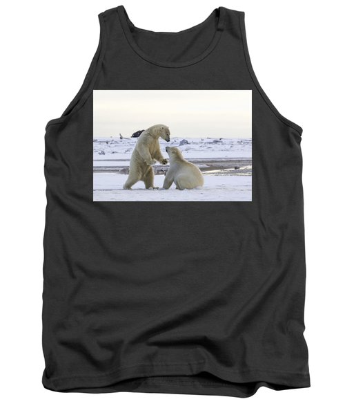 Polar Bear Play-fighting Tank Top