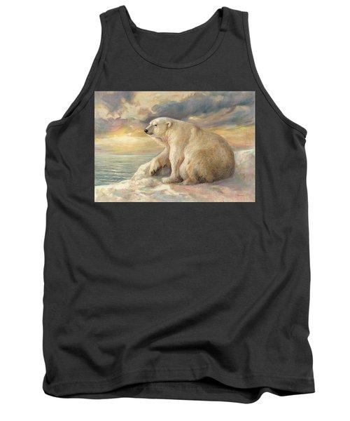 Polar Bear Rests On The Ice - Arctic Alaska Tank Top