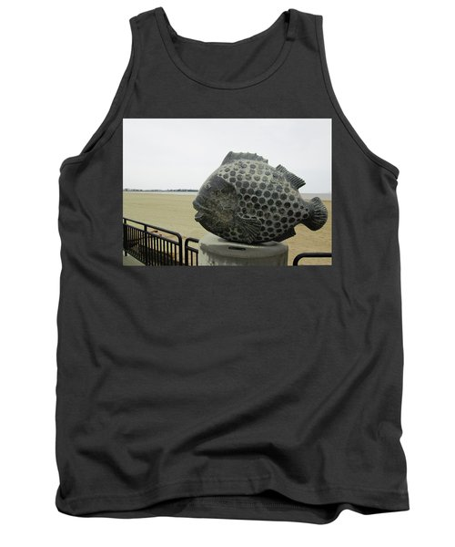 Polka Dotted Fish Sculpture Tank Top