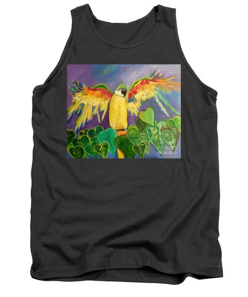 Polly Wants More Than A Cracker Tank Top by Rosemary Aubut