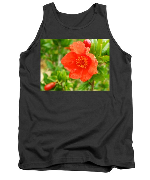 Pomegranate Flowers Tank Top