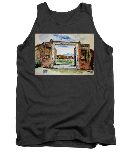 Pompeii Doorway Tank Top by Clyde J Kell