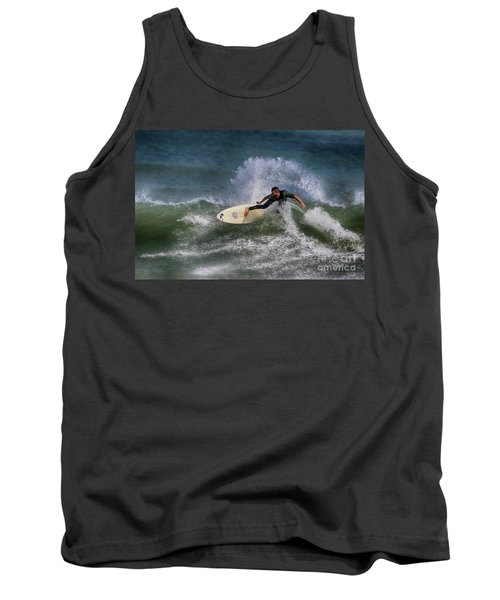 Tank Top featuring the photograph Ponce Surfer 2017 by Deborah Benoit