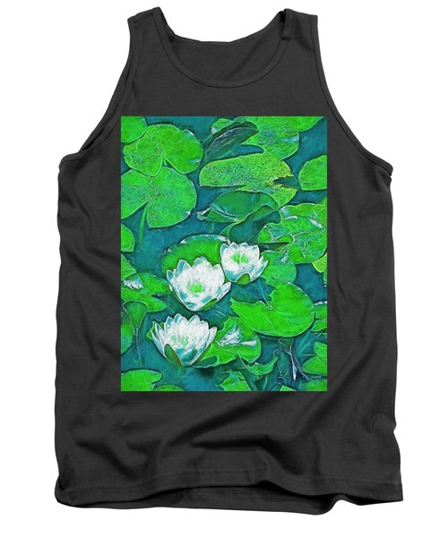 Pond Lily 2 Tank Top by Pamela Cooper