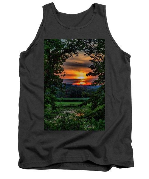 Pond Sunset  Tank Top