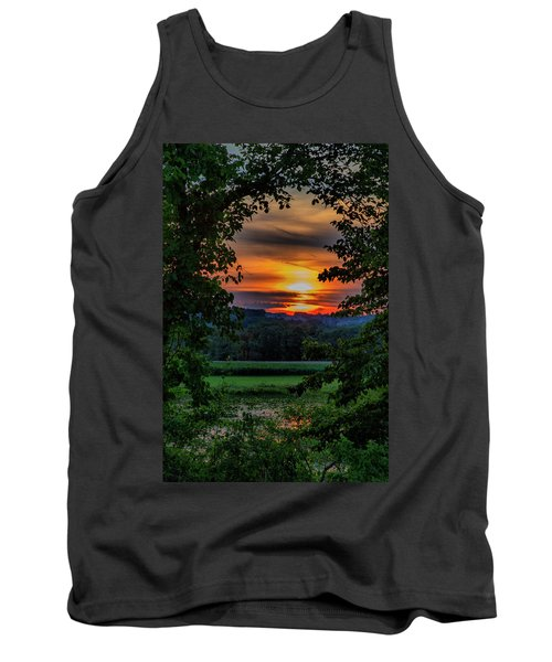 Pond Sunset  Tank Top