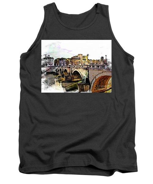 Ponte San Angelo, Rome, Italy Tank Top