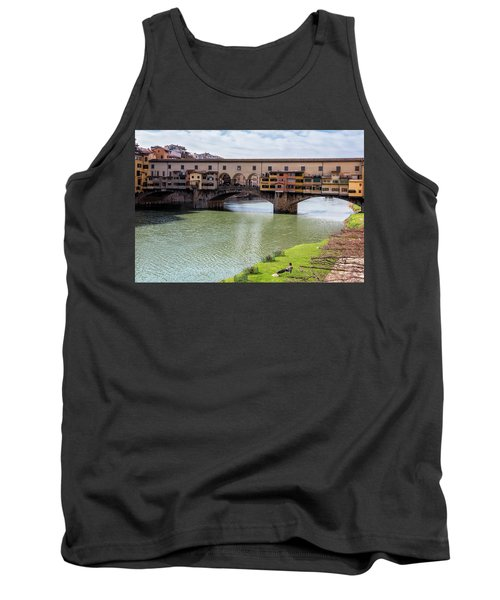 Tank Top featuring the photograph Ponte Vecchio Florence Italy II by Joan Carroll