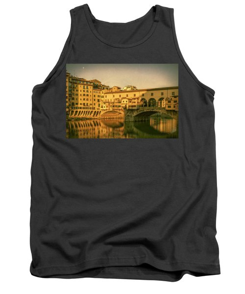 Tank Top featuring the photograph Ponte Vecchio Morning Florence Italy by Joan Carroll