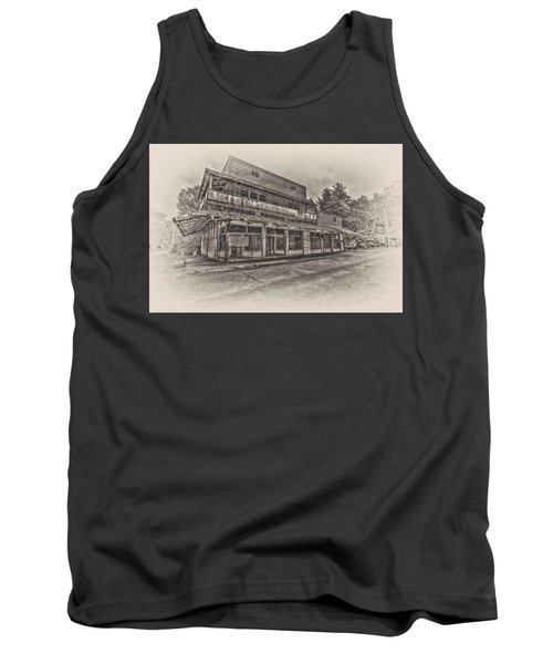 Poole's Crossroads In Sepia Tank Top