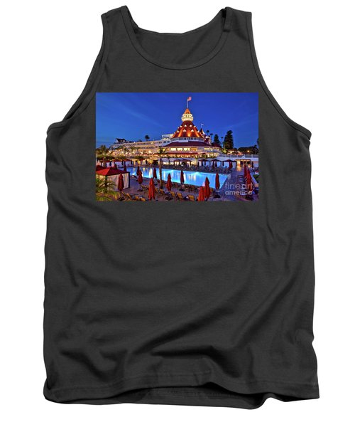 Poolside At The Hotel Del Coronado  Tank Top by Sam Antonio Photography