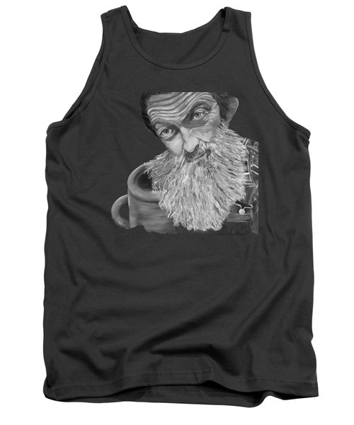 Popcorn Sutton Black And White Transparent - T-shirts Tank Top by Jan Dappen