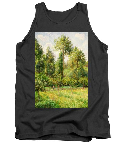 Tank Top featuring the painting Poplars - Eragny by Camille Pissaro