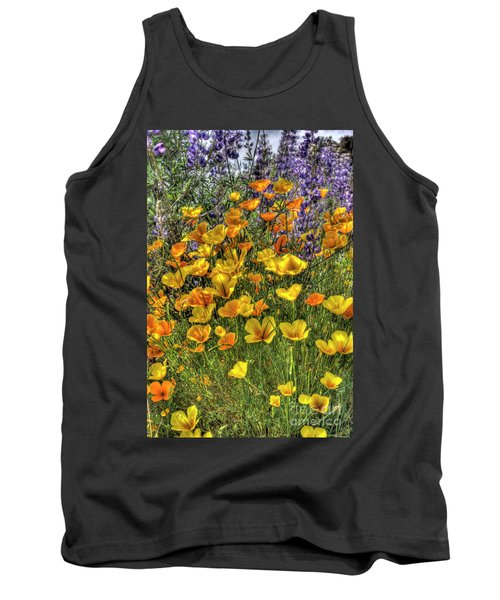 Tank Top featuring the photograph Poppies And Lupines by Jim and Emily Bush