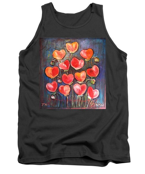 Poppies Are Hearts Of Love We Can Give Away Tank Top