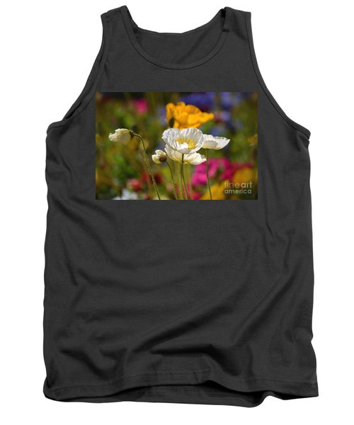 Poppies In The Spring Tank Top by Deb Halloran