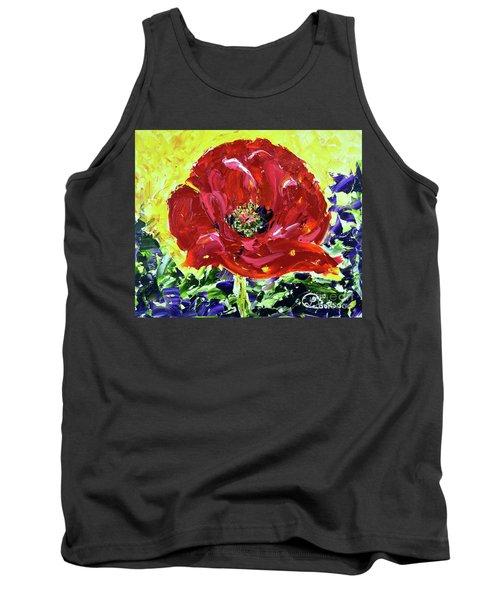 Poppy Amongst Lavender Tank Top