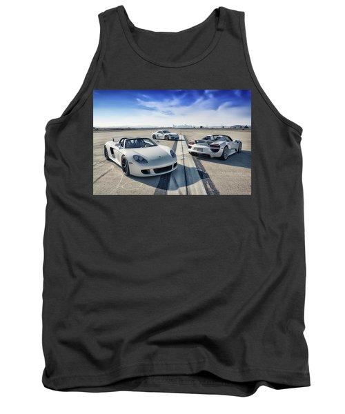 Tank Top featuring the photograph #porsche #carreragt,  #918spyder,  #cayman #gt4 by ItzKirb Photography