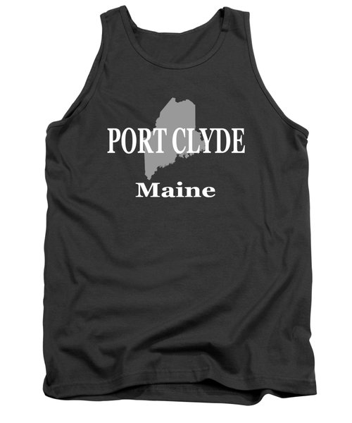 Port Clyde Maine State City And Town Pride  Tank Top
