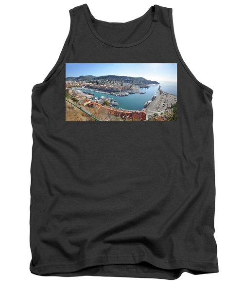 Tank Top featuring the photograph Port Nice Panorama by Yhun Suarez