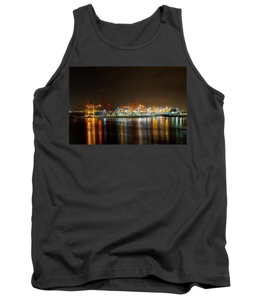 Port Of Vancouver Bc At Night Tank Top
