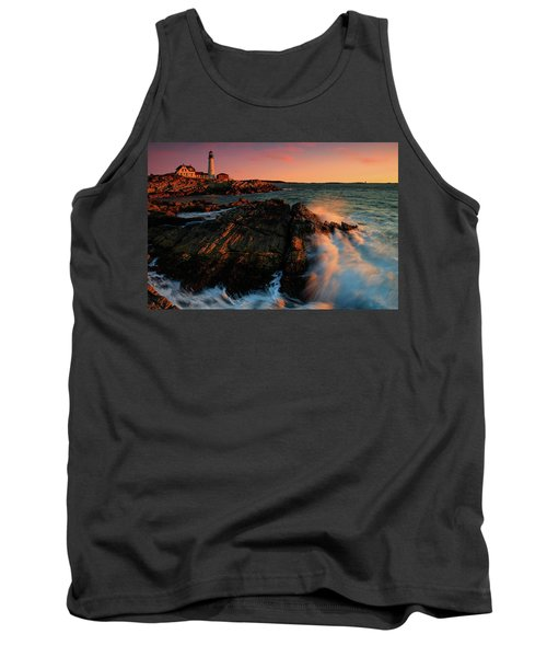 Tank Top featuring the photograph Portland Head First Light  by Emmanuel Panagiotakis
