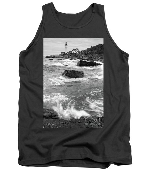 Portland Head Light Under Heavy Skies  -88356 Tank Top