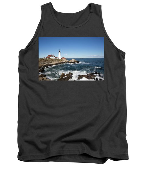 Portland Head Lighthouse Maine Tank Top