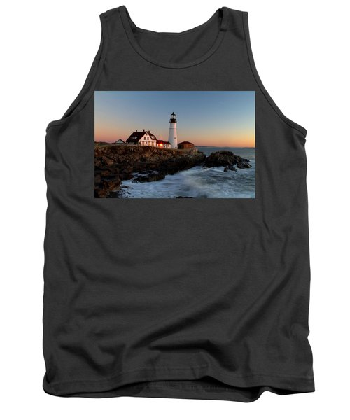 Portland Head Lighthouse Sunrise Tank Top