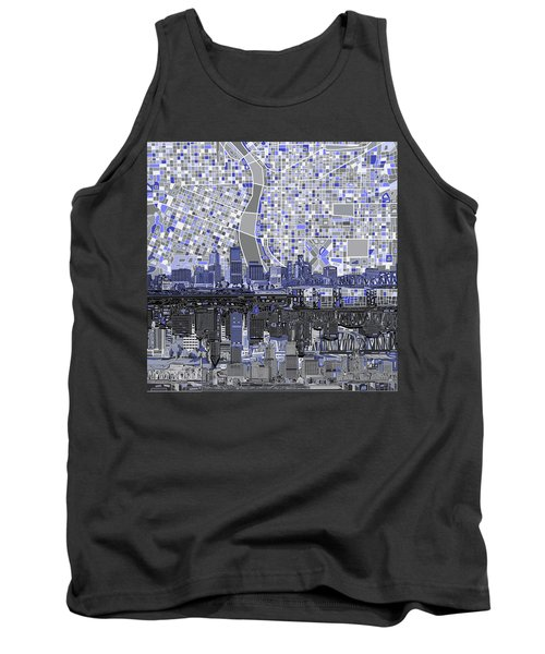 Portland Skyline Abstract Nb Tank Top by Bekim Art