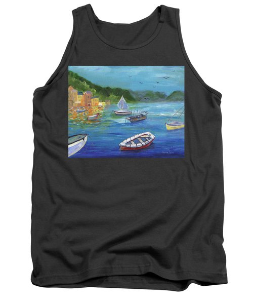 Tank Top featuring the painting Portofino, Italy by Jamie Frier