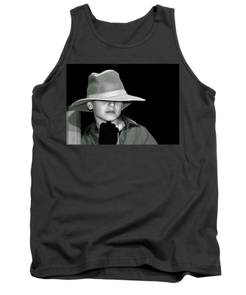 Portrait Of A Boy With A Hat Tank Top by Alex Galkin
