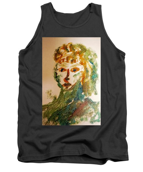 Portrait Of A Girl  Tank Top by Shea Holliman