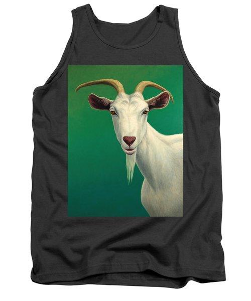 Portrait Of A Goat Tank Top by James W Johnson