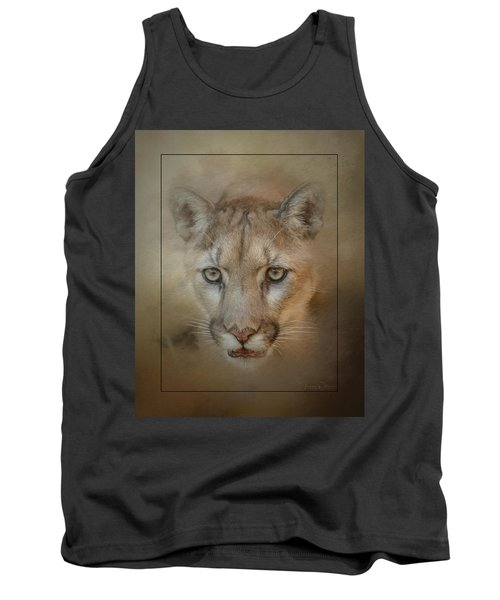 Portrait Of A Mountain Lion Tank Top