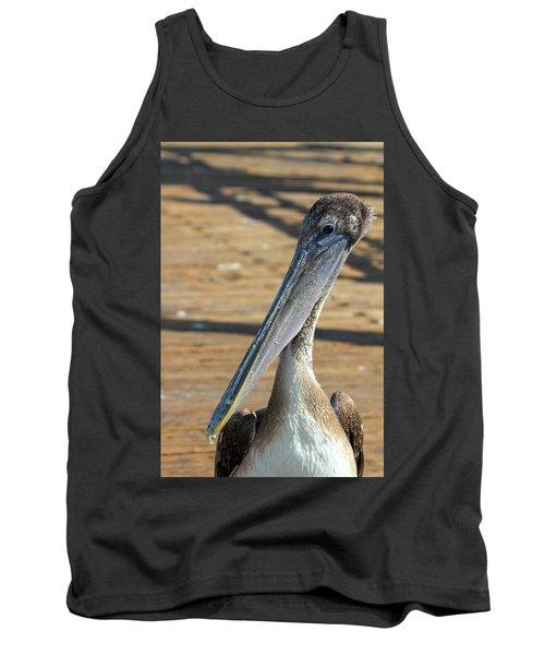 Portrait Of A Pelican On The Pier Tank Top
