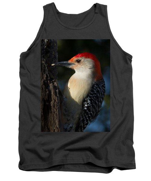 Portrait Of A Woodpecker Tank Top