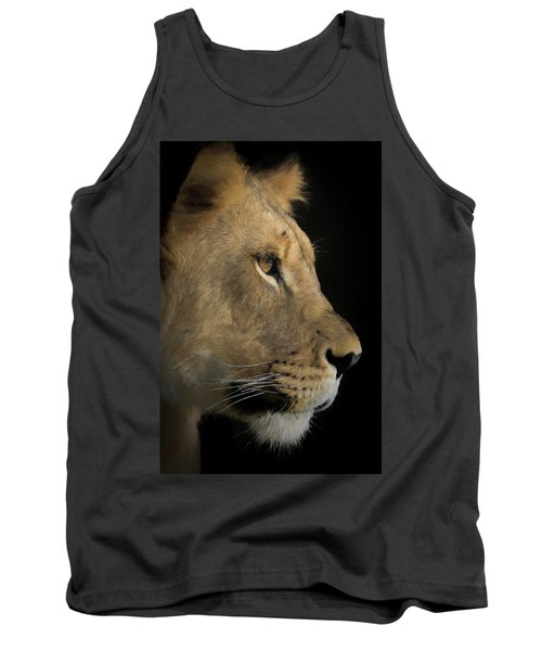 Tank Top featuring the digital art Portrait Of A Young Lion by Ernie Echols