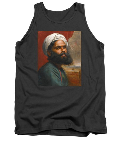 Tank Top featuring the painting Portrait Of An Indian Sardar by Edwin Frederick Holt