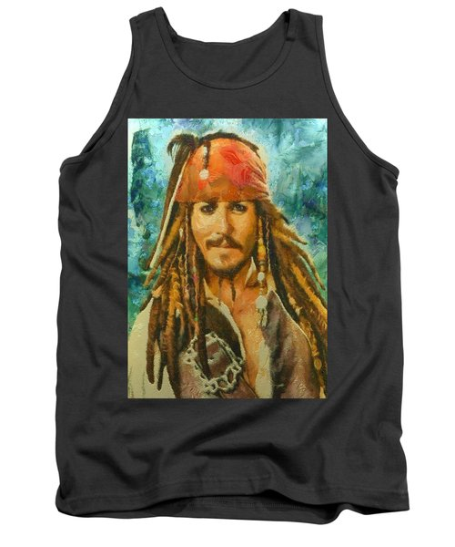 Portrait Of Johnny Depp Tank Top