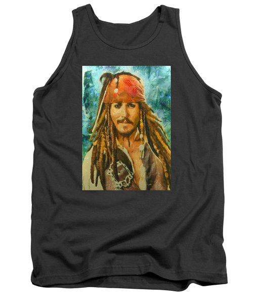 Portrait Of Johnny Depp Tank Top