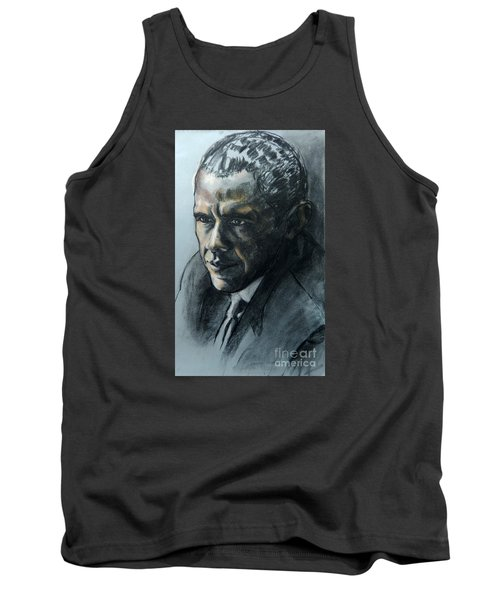 Charcoal Portrait Of President Obama Tank Top