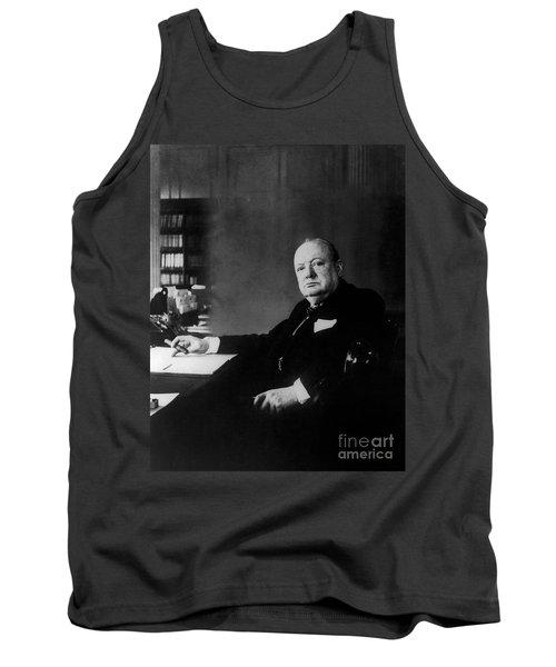 Portrait Of Winston Churchill  Tank Top