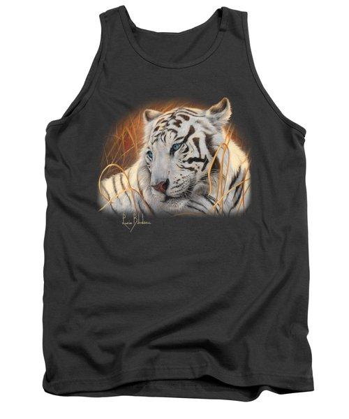 Portrait White Tiger 1 Tank Top