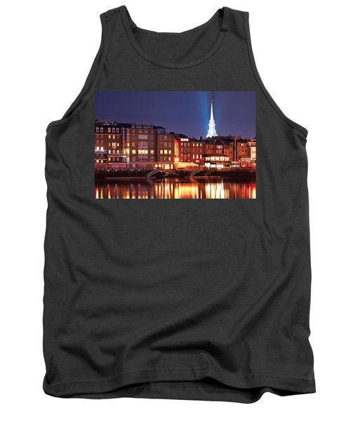 Portsmouth Waterfront At Night Tank Top