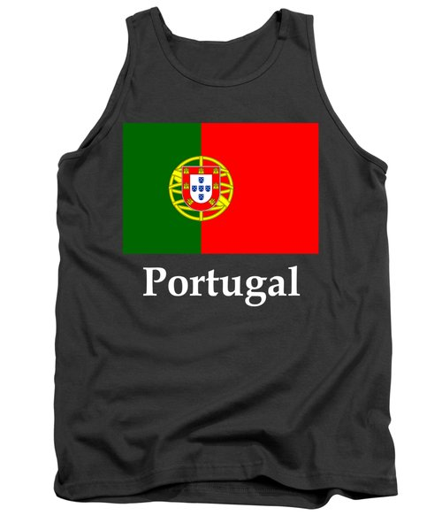 Portugal Flag And Name Tank Top