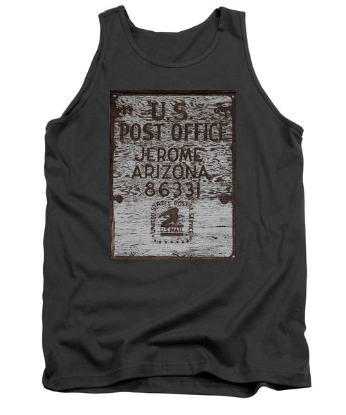 Tank Top featuring the photograph Post Office Jerome - Arizona by Dany Lison
