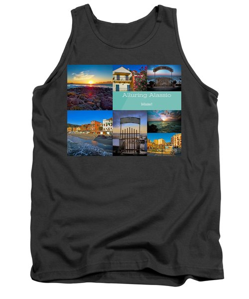 Postcard From Alassio Tank Top by Karen Lewis