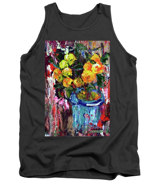 Potted Mini Oranges Tank Top by Lynda Cookson