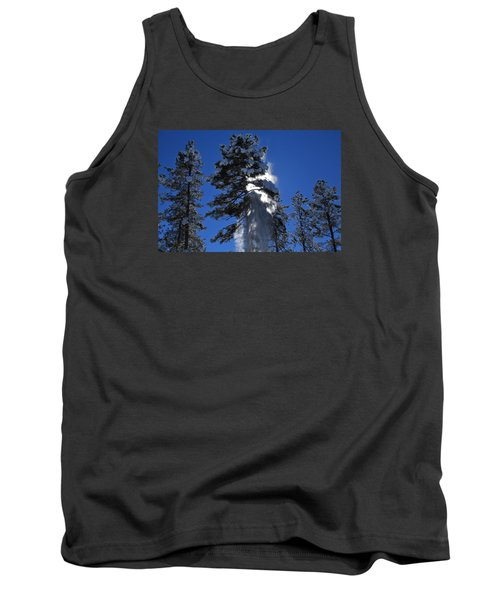 Tank Top featuring the photograph Powderfall by Gary Kaylor
